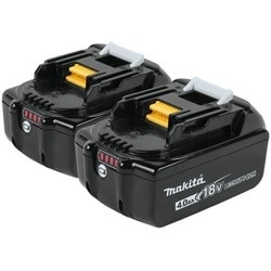 Cordless Power Tool Battery, Lithium-Ion, Slide Style, 18 Volt, 4 Amp-Hr, 40 Minute Charging Time