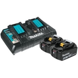 Battery and Charger Starter Pack, Lithium-Ion, Slide Style, Dual Port, 18 Volt, 5 Amp-Hr, 45 Minute Charging Time