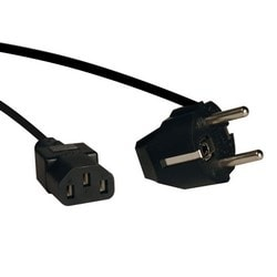 2-Prong European Computer Power Cord, 10A (IEC-320-C13 to SCHUKO CEE 7/7), 6-ft.