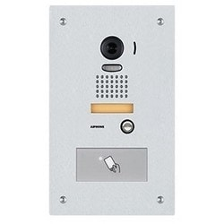Video Door Station W/ Hid Proxpoint Plus Reader, Flush Mount Stainless Steel