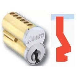 Pointe SFIC Key Cylinder, 6-Pin Uncombinated, GB Keyway, Satin Chromium Plated, Without Logo