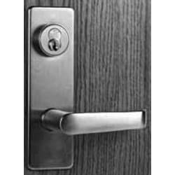 """Mortise Cylinder Housing, Large Format Interchangeable Core, Standard, 6-Pin, Straight Cam, 1-1/2"""" Length, Satin Chrome Plated"""