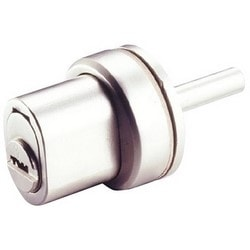 Door Push Lock, Service Combination Keying, 4-Chamber, 206SP Keyway, Bright Chrome, With Bolt