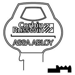 Door Lock Key Blank, All-Section, Standard, 6-Pin, 8 Keyway, X-Class Bitting, Coined Logo Bow