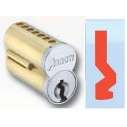 Pointe SFIC Key Cylinder, 7-Pin Uncombinated, DB Keyway, Satin Chromium Plated, Without Logo