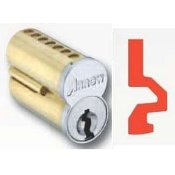 Pointe SFIC Key Cylinder, 7-Pin Uncombinated, WG Keyway, Satin Chromium Plated