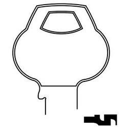 Door Lock Key Blank, Single-Section, Standard, 5-Pin, Plain Bow