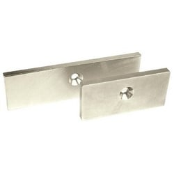 """Magnalock Armature Offset Strike Plate, 1/4"""" Mounting Hole, Aluminum Frame, Clear Glass, For M62 Magnalock"""