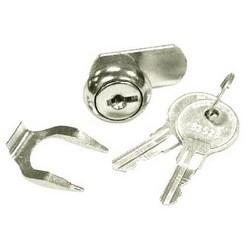 Coffret serrure à clé, avec la clé (2), pour le boîtier d'alimentation mécanique