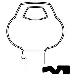 Door Lock Key Blank, Cylinder, Single-Section, Standard, 6-Pin, DH-Class Bitting, Plain Bow