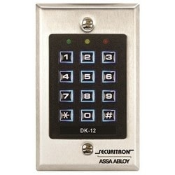 "Digital Keypad System, 1-Gang, 12/24 Volt DC, 2-3/4"" Width x 5/32"" Depth x 4-1/2"" Height, With Illuminated Key"