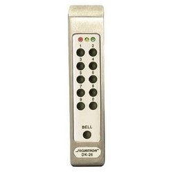 "Digital Keypad System, Narrow Stile, 12/24 Volt AC/DC, 6"" Width x 3"" Depth x 8"" Height, Satin Stainless Steel, With Controller"