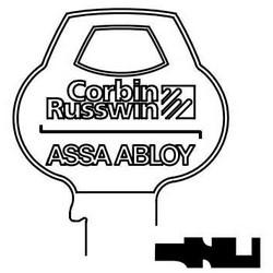 Porte serrure clé brute, avers, cylindre, Single-Section, Standard, 6 broches, N-classe mordais, Logo inventé Bow
