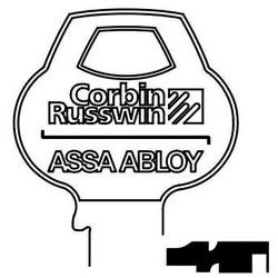 Serrure de porte clé brute, Reverse, cylindre, Single-Section, Standard, 6 broches, N-classe mordais, Logo inventé Bow