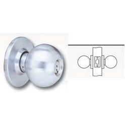 """Cylinder Lockset, Ball Knob, D Rose Trim, T-Strike, 2-3/8"""" Backset, 1"""" Spring Latch, Oil Rubbed Dark Oxide Bronze, For Passage"""