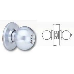 """Cylinder Lockset, Ball Knob, D Rose Trim, T-Strike, 2-3/8"""" Backset, 1"""" Spring Latch, Oil Rubbed Dark Oxide Bronze, For Privacy"""