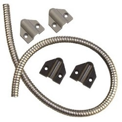 """Door Cord, 36"""" Length x 1/4"""" Inner Diameter, Grey/Black, With Cap"""