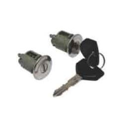 General Motor Door Cylinder Lock, Coded, 1990 to 1995 Year Model, Chrome Plated, With (2) Door Lock and Key