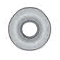 "Automotive Lock Face Cap, 1.18"" Diameter, For Nissan Luggage, 10 each per Pack"