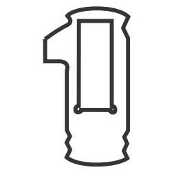 Automotive Lock Tumbler, #4, TR40/MIT1 Key, For Toyota, Mitsubishi, Hyundai, Kia, Suzuki, General Motors, Chrysler