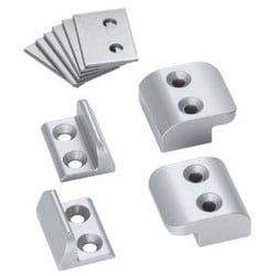 Mullion Stabilizer, 2-Piece interlocking, Sprayed Aluminum