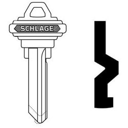 Porte serrure cylindre clé vide, classique, conventionnelle, en relief, Standard Bow, 6 cylindre, C rainure de clavette, maillechort
