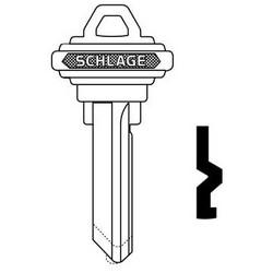 Door Lock clés Bow blanc, classique, conventionnelle, plaine, 6 cylindre, cylindre C rainure de clavette, argent de Nickel, à ne pas répéter les timbres