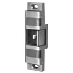 "Rim Exit Device Strike, 24 Volt DC, 1-5/8"" Width x 6"" Height, 3/4"" Throw, 6"" Length Face Plate, Satin Stainless Steel, With Blade Stop Shim, Dual Monitor Switch, Entry Buzzer"