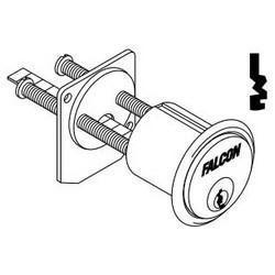 Door Lock Cylinder, Rim, 7-Pin, M Keyway, 0-Bitted, Aluminum, Satin Chrome