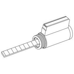 Door Lock Cylinder, Standard, 6-Pin, G Keyway, Satin Chrome, For RU Series Door Lock