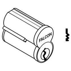 Door Lock Cylinder, Interchangeable Core, 6-Pin, Uncombinated, Standard, TB Keyway, Satin Chrome