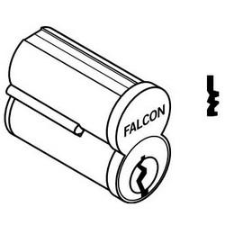 Door Lock Cylinder, Interchangeable Core, 6-Pin, Uncombinated, Standard, TD Keyway, Satin Chrome
