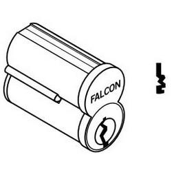 Door Lock Cylinder, Interchangeable Core, 7-Pin, Uncombinated, Standard, M Keyway, Satin Brass