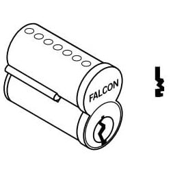 Door Lock Cylinder, Interchangeable Core, 6-Pin, Uncombinated, Best Style Capping, M Keyway, Satin Chrome