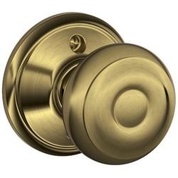 Door Lock, Dummy, Georgian Knob, Antique Brass, For Inactive/Storeroom
