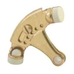 Hinge Pin Door Stop, Steel, Clear Coated Bright Nickel