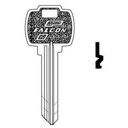 Door Lock Key Blank, Standard, 6-Pin, E Keyway, For Conventional Cylinder