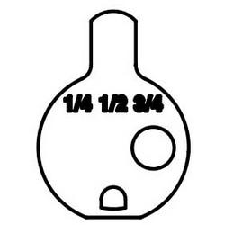 """Came de cylindre de serrure de porte, pour 1-1/4"""", 1-1/2 «, 1-3/4» cylindre modulaire"""