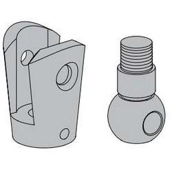 Porte tenant coupleur Kit de montage, en aluminium, avec coupleur lien et Pivot de la balle, pour Heavy Duty porte à commande électrique