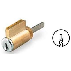 "Cylinder Lock, Knob/Lever, Corbin 60 Keyway, Zero-Bitted, 5-Tailpiece, 1.35"" Length x 0.61"" Width x 10.2"" Height, Solid Brass, Satin Chrome"
