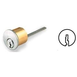 "Rim Cylinder, Sargent LA Keyway, Keyed Alike, 1.36"" Diameter, 1-1/8"" Rim Length, 6-Pin Cylinder, Solid Brass, Oil Rubbed Bronze"