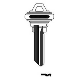 Key Blank, Look-Alike, 6-Pin, CE Keyway, Natural Nickel Silver, 5 Price Group, For Schlage