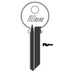 Cylinder Lock Key Blank, 6-Pin, Brass, Nickel Plated, 14 Price Group, For Yale