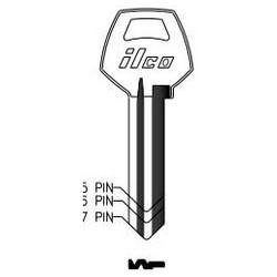 Cylinder Lock Key Blank, Natural Brass, 34 Price Group, For Corbin/Russwin