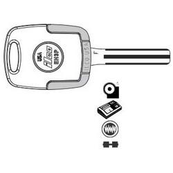 Vehicle Key, F, Electronic, Cloning Tool, Special Key Machine, Natural Nickel Silver, 62 Price Group, For Hyundai Azera 2006-10