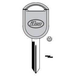 Vehicle Key Blank, 80-Bit, Brass, Nickel Plated, For Ford