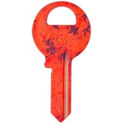 Decorative Key Blank, Realtree Xtra, Master, Blaze Orange Design, Individually Carded, M1 Keyway