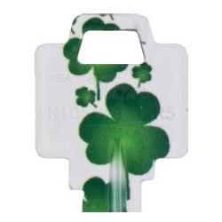 Decorative Key Blank, Personali-Keys, Kwikset/Titan, Clover Design, Small Bow, Big Impact, KW Keyway, 39 Price Group