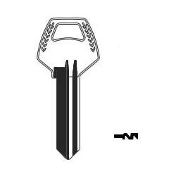 Key Blank, Look-Alike, 6-Pin, C2, Natural Nickel Silver, 6 Price Group, For Corbin/Russwin