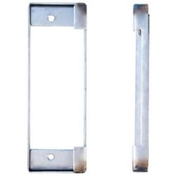 "Weldable Box, Cylindrical, 1-3/4"" Width x 3/8"" Depth x 5-1/8"" Height, 14 Gauge Steel, For Holding an ANSI Strike Plate"